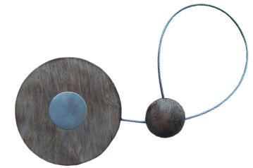 Curtain Tie Back Magnetic Dark Oak Disc