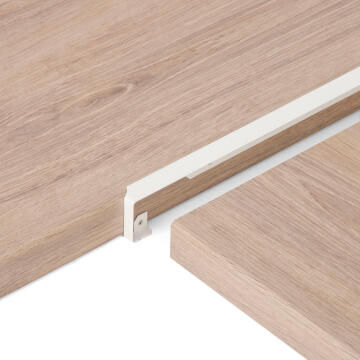Kitchen Worktop Aluminium Junction Angle White 38Mm