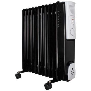 11 Fin Oil Filled Steel Black 3 Heat Settings