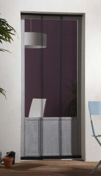 Mosquito Net for Door up to 1000wide Horizontal Sliding Vertical Strips Black-w1000xh2500mm