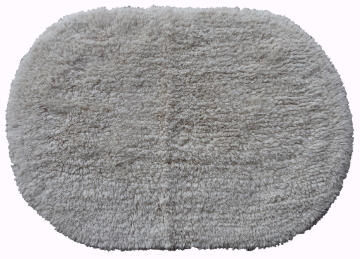 Bath mat woven oval cotton SENSEA natural 40X60CM