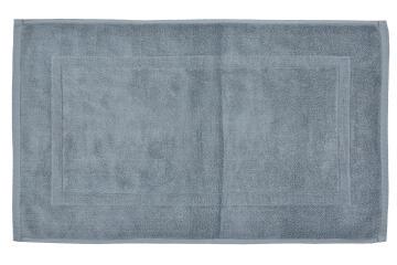 Bath mat woven rectangle cotton SENSEA Terry grey 50X80CM
