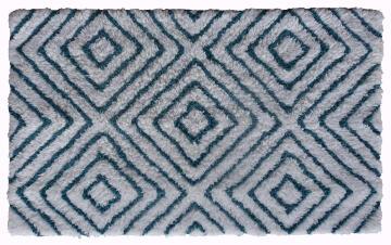 Bath mat ractangle cotton SENSEA Rombo blue white 50X80CM