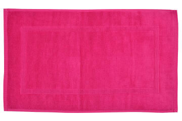 Bath mat woven rectangle cotton SENSEA Terry Pink 50X80CM