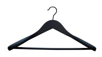 Wooden jacket hanger black Spaceo