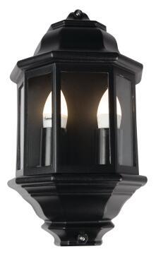 Black Outdoor Lantern Half Lantern 2 X E27