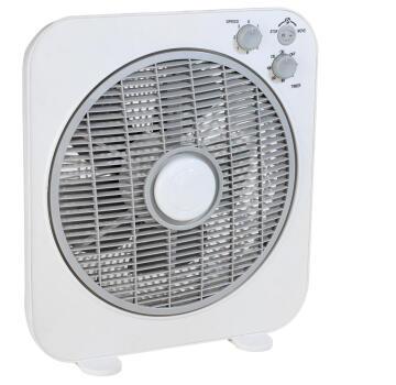 Box fan EQUATION 30cm 40w white & grey
