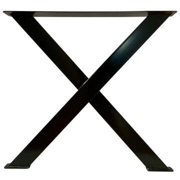 Table Leg Steel Square Tubing X-Shape Black-w500xh730mm