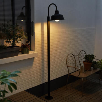 Lamp post E27 60W IP44 2M metal black matt