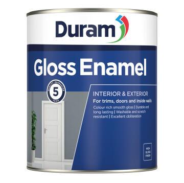 Gloss enamel paint navy grey 1l DURAM