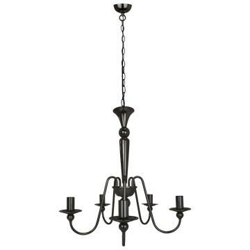 PENDANT LAMP E14 5X40W IRON BLACK CHROME