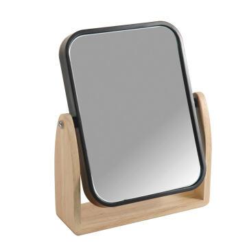 Mirror plastic and rubber wood frame SENSEA Scandi matt black