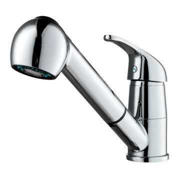 Kitchen tap lever mixer with retractable spray DELINIA Nerea chrome