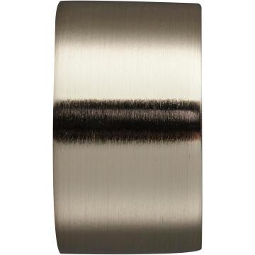 Curtain Rod Finial INSPIRE 28mm Diameter Brushed Chrome End Cap x1