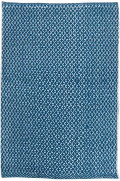 RUG H/WOVEN COTTON D/BLUE 65X110CM