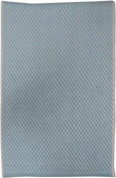 RUG H/WOVEN COTTON L/BLUE 65X110CM