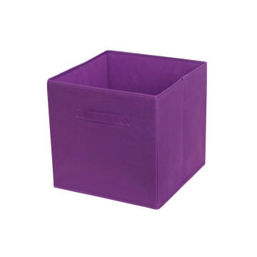Polyester basket purple 31X31X31cm