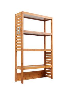 Bathroom cabinet SENSEA natural bamboo 60x100x20cm