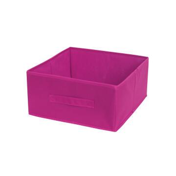 Polyester basket pink 31X31X15cm