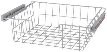 Metal sliding basket H15 X W60 x D45cm
