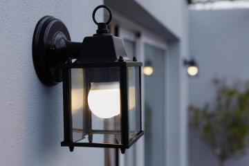 Down Lamp E27 Max 60W Diecast Alu + Clea