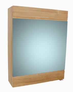 Mirror cabinet with 1door SENSEA Moorea natural oak 75x60cm