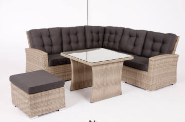 Sofa Set Corner Set Wicker Daveport NATERIAL