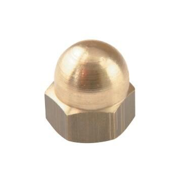 Dome nuts brass 5mm 4pc standers