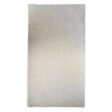 SHAGGY RUG MICRO-FIB POLY WHITE 60X120CM
