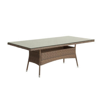 Table 200 cm X 100 cm Wicker Manhattan NATERIAL