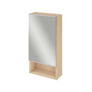 Bathroom mirror cabinet 36cm SENSEA Easy oak 70x36x14cm