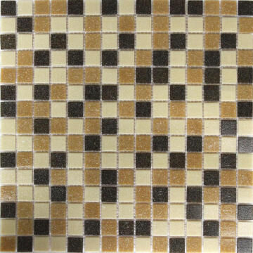 Mosaic tile reconstituted glass beige mix 32.7cm x 32.7cm