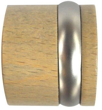 Curtain Rod Fanial End Caps INSPIRE 28mm Diameter Light Oak