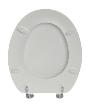 Toilet seat Pop zink alloy hinge SENSEA white matt