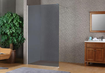 Shower walk in SENSEA Remix silver profile 8MM smoked 87X200CM