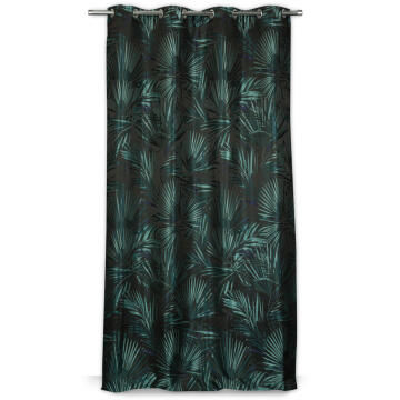 CURTAIN 140X250C MEYELET JUNGLE BLUE GRN