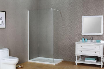 Shower walk in SENSEA Remix white profile 8MM clear 116X200CM