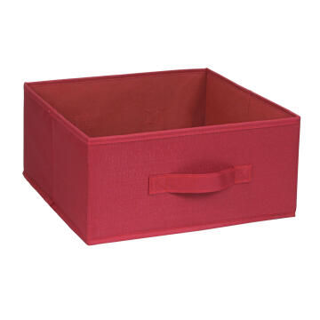 Polyester basket red 31X31X15