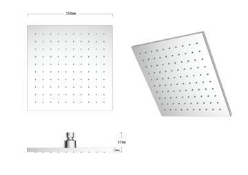 Shower head square 1jet acs SENSEA Vardo 25X25CM