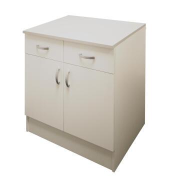 Kitchen base cabinet kit 2 drawer/2 door SPRINT white L80cmxH87cmxD60cm