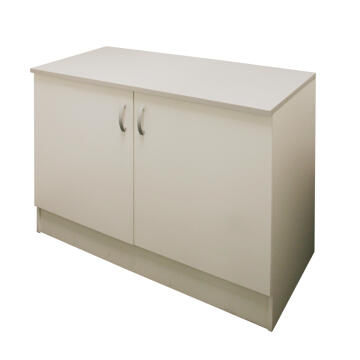 Kitchen base cabinet kit 2 door SPRINT white L120cmxH87cmxD60cm