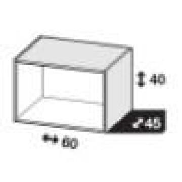 Modular cabinet white Spaceo H40cm x L60cm x D45cm