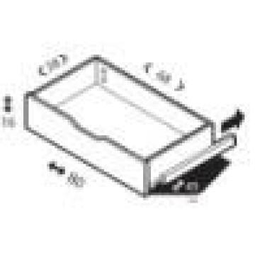 Drawer white Spaceo H20 x L80 x D45cm