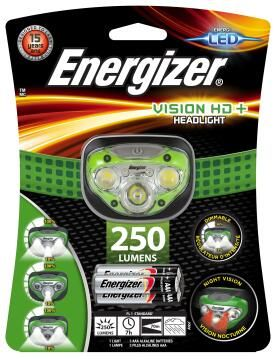 HEAD LIGHT HD PLUS ENERGIZER GREEN