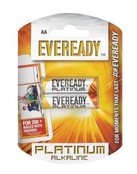 BATTERY ALKALINE EVEREADY AA / LR6 X2