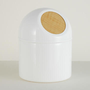Push bin plastic SENSEA Scandi white