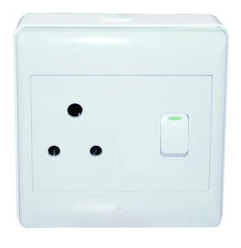 Wall mounted socket 100x100mm 1x3pin white