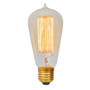 Carbon Filament Pear Shape Squirrel Cage E27 60W