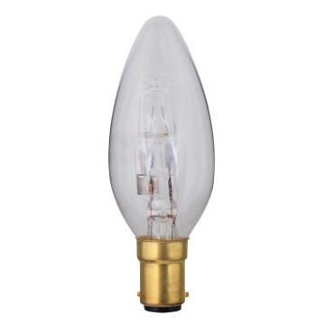HALOGEN 28W B15 CANDLE CLEAR