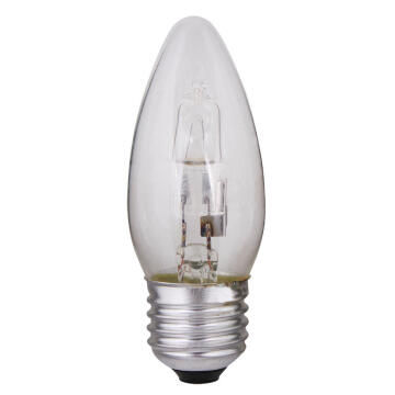 HALOGEN 28W E27 CANDLE CLEAR